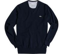 Pullover Baumwolle dunkelblau
