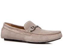 Herren Schuhe Slipper Veloursleder greige beige,beige