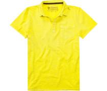 Polo-Shirt Baumwolle zitronengelb