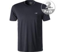 T-Shirt Oberteil, Baumwolle, navy