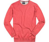 Pullover Seide-Baumwolle koralle meliert