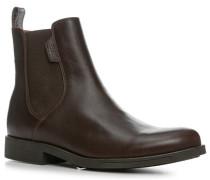 Schuhe Chelsea Boots, Glattleder, dunkelbraun