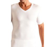 Herren T-Shirt Baumwoll-Stretch weiß