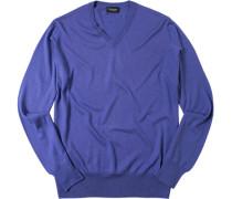 Pullover Seide-Kaschmir lavendel