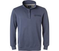 Pullover Troyer, Baumwolle, tintenblau