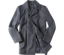 Mantel Wolle wasserabweisend dunkelgrau meliert ,blau