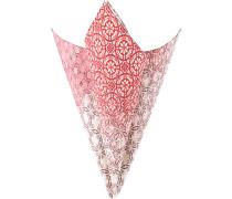 Accessoires Einstecktuch Baumwolle-Seide rot gemustert