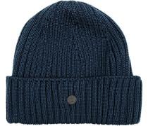 Mütze Wolle marine