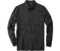 Polo-Shirt Polo Pima Baumwoll-Jersey anthrazit