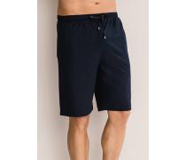 Schlafanzug Pyjamahose Baumwolle navy