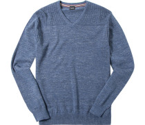 Herren Pullover Woll-Mix rauchblau