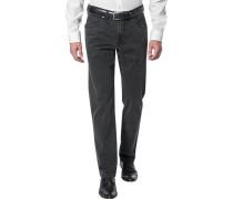 Jeans Regular Fit Baumwoll-Stretch anthrazit