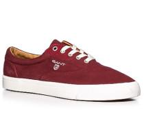Herren Schuhe Sneaker Twill bordeaux rot,weiß
