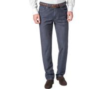 Herren Jeans Contemporary Fit Baumwoll-Stretch 7,5oz indigo blau