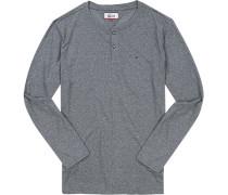 T-Shirt Longsleeve Baumwolle meliert