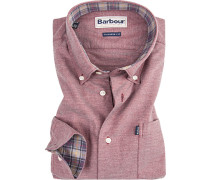 Oberhemd, Tailor Fit, Oxford, bordeaux meliert