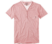 T-Shirt Baumwolle weiß- gestreift