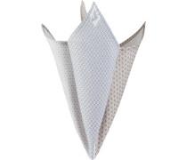 Accessoires Einstecktuch Baumwolle grau gemustert