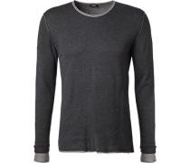 Pullover Modern Fit Baumwolle dunkelgrau