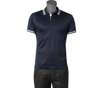 Herren Polo-Shirt Polo Baumwoll-Jersey navy blau