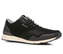 Herren Schuhe Sneaker Veloursleder-Mix schwarz schwarz,grau