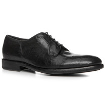 Schuhe Derby Büffelleder gecrasht nero