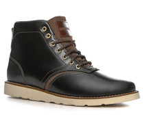 Schuhe Schnürstiefeletten, Glattleder, -braun