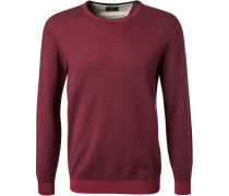 Pullover, Wolle-Baumwolle, bordeaux