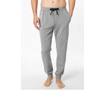Schlafanzug Pyjamapants Baumwolle-Modal meliert