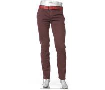Chino-Hose Lou-J Regular Slim Fit Baumwolle T400® bordeaux