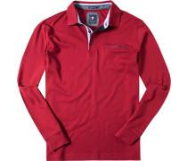 Herren Polo-Shirt Polo Baumwoll-Jersey kirschrot