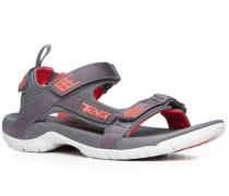 Herren Schuhe Sandalen Nylon dunkelgrau grau,rot