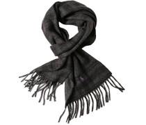 Schal Wolle graphit-purpur kariert