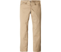 Herren Jeans Regular Fit Baumwoll-Stretch beige