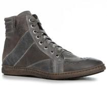 Herren Schuhe Sneaker Velours-Glattleder-Mix grau