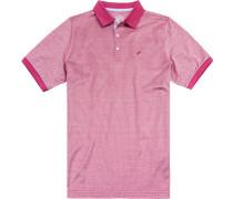 Polo-Shirt Polo Baumwoll-Jersey fuchsia-weiß gemustert