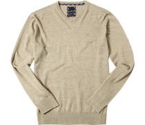 Pullover Baumwolle greige meliert