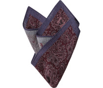 Accessoires Einstecktuch Wolle bordeaux-pflaume paisley