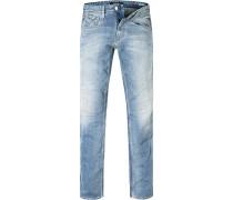 Jeans Slim Fit Baumwoll-Stretch 11,5oz hellblau
