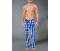Schlafanzug Pyjamahose Baumwolle kariert