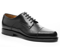 Herren Schnürschuhe Kalbleder schwarz schwarz,beige