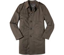 Mantel Baumwolle wasserabweisend dunkelbraun