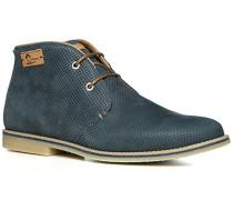 Herren Schuhe Desert Boots Nappaleder navy blau,blau