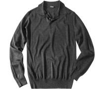 Pullover Seide-Kaschmir anthrazit