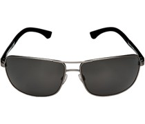 Brillen Sonnenbrille Metall-Kunststoff antiksilber