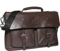 Herren Tasche  Aktenkoffer Rindleder dunkelbraun