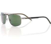 Herren Brillen  Sonnenbrille silber-metallic grau,schwarz