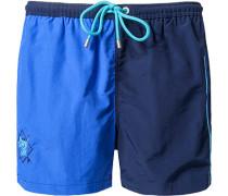 Herren Bademode Bade-Shorts Microfaser marine-royal blau