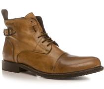 Herren Schuhe Stiefeletten Leder beige beige,braun