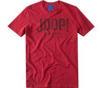 T-Shirt Regular Fit Baumwolle dunkelrot